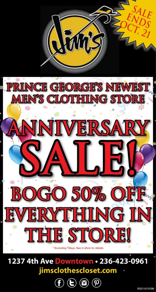 1 Year Anniversary Sale – Prince George