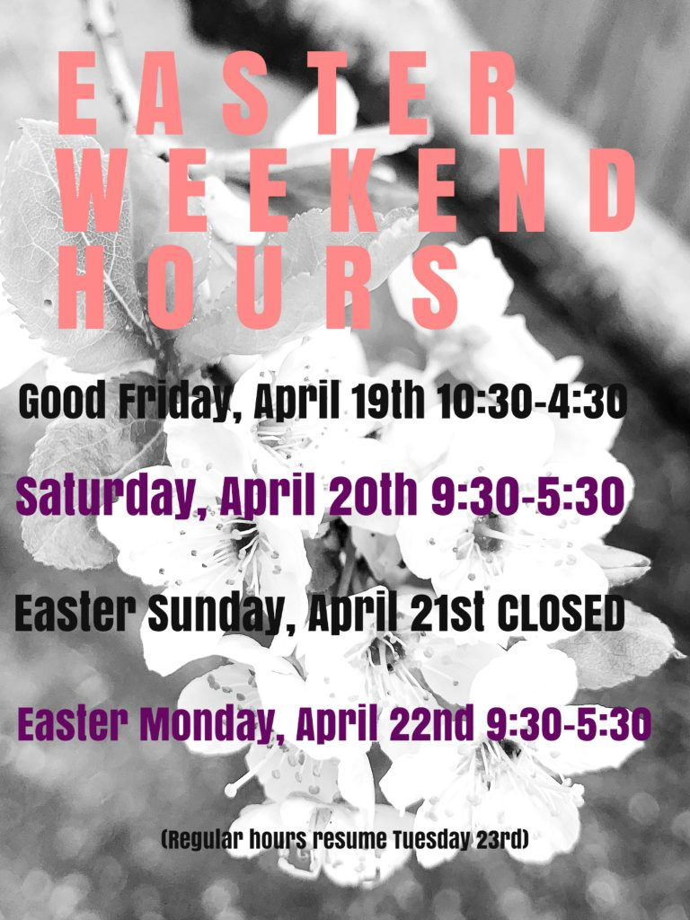 Easter Long Weekend Hours at Jim's Clothes Closet - Open Good Friday and Easter Monday